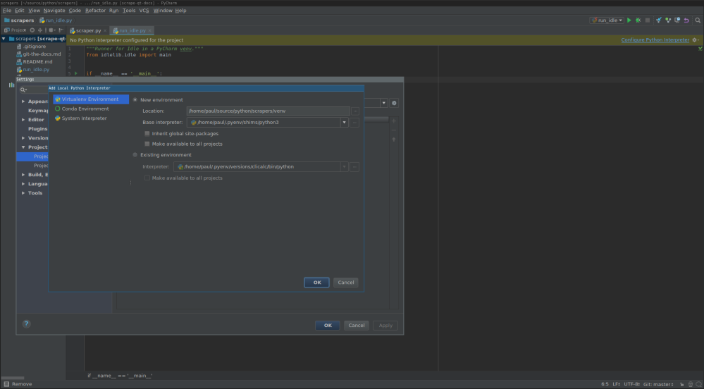 Run Idle from a Virtual Environment in PyCharm | Paul Wicking